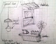 Mermaids General Store Concept - Scene Sketch