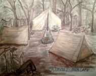 Union Camp Scene Sketch